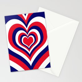 Fourth of July Heart Stationery Cards