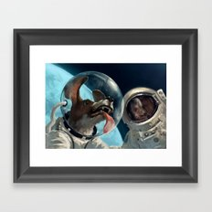 In out space Framed Art Print