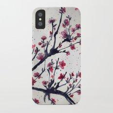 Sakura Sakura watercolour iPhone X Slim Case
