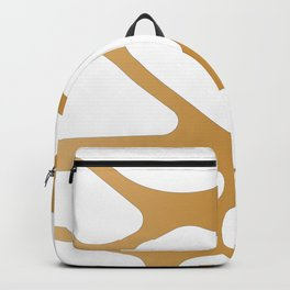 Abstract Golden lines Backpack