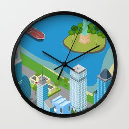 Helicopter tour of New York City II. Wall Clock