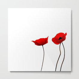 Simply poppies Metal Print