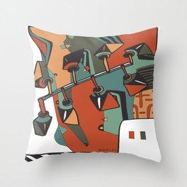 New Society Throw Pillow