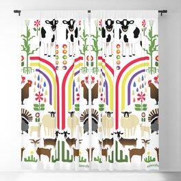 Noah's Farm Animals Blackout Curtain