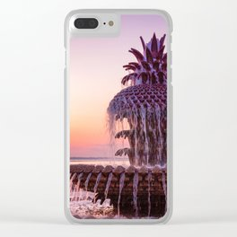 Pineapple Fountain 2 Clear iPhone Case