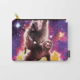 Space Cat Llama Sloth Riding Nachos Carry-All Pouch