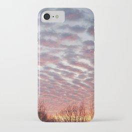 Winter sunset panorama - Hoyt Park, Madison, WI iPhone Case