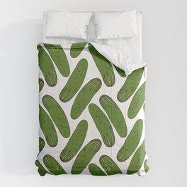 Pickles Green Cucumbers Comforters