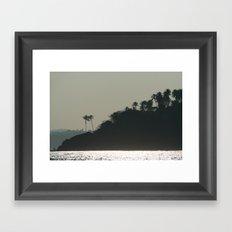 Palm Trees on Monkey Island Framed Art Print