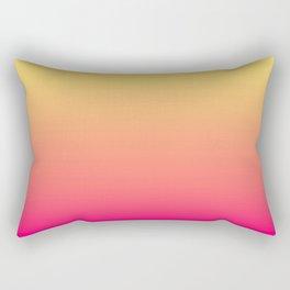 Summer Sunset Gradient Ombré Abstract Rectangular Pillow