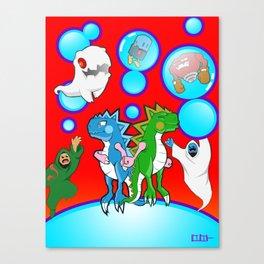 Bubble Bobble Redux Canvas Print