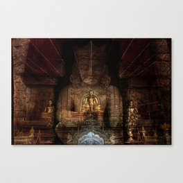 Double Buddha Canvas Print