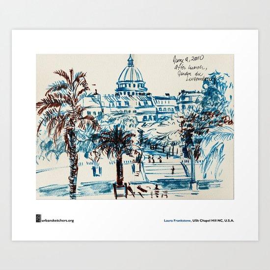 "Laura Frankstone, ""Jardin du Luxembourg, Paris"" Art Print"