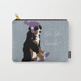 Winter Purple Har Bernese Mountain Dog  Carry-All Pouch