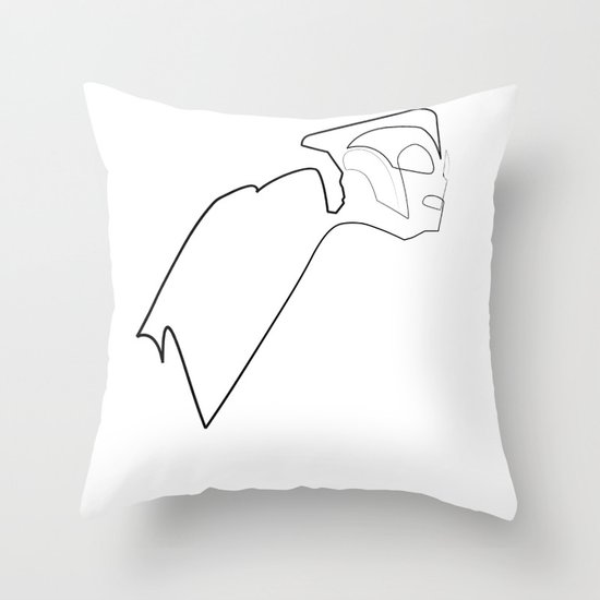 One line Rocketeer Throw Pillow