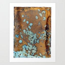 Copper Raindrops Art Print