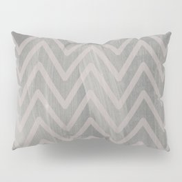 Mauve pink geometric watercolor chevron brushstrokes Pillow Sham