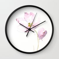 tulips Wall Clocks featuring tulips by beautifyprints