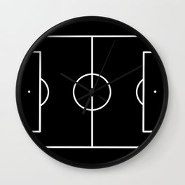 Soccer field / Football field in Black and White Wall Clock