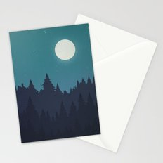 Tree Line - Turquoise Stationery Cards