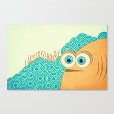 i just get hungry Canvas Print