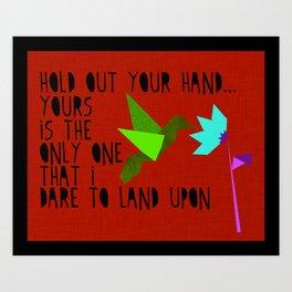 Hummingbird - The Weepies Lyrics Art Print
