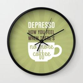 Coffee: Depresso Wall Clock