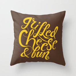 Grilled Cheese & Fun Throw Pillow