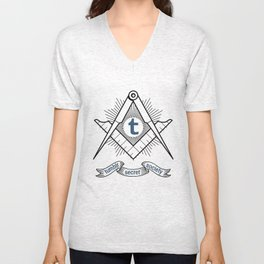 Tumblr Secret Society Unisex V-Neck