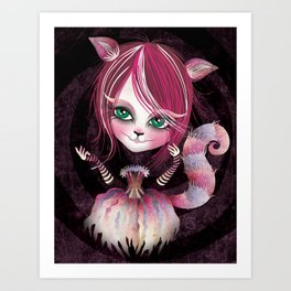 Cheshire Kitty Art Print