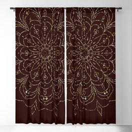 Mandala Gold-Brown Flower Blackout Curtain