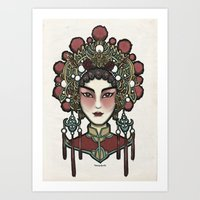 Painted Face Series : Cantonese Opera Singer Art Print