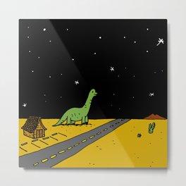 Roadside Dinosaur Metal Print