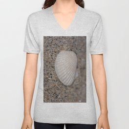 Sea shell on the beach Unisex V-Neck