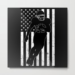 American Flag American Football Player Metal Print