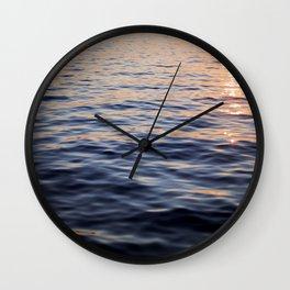 Puget Sound Sunset II Wall Clock