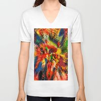 psychedelic V-neck T-shirts featuring Psychedelic. by Vanessa Furtado