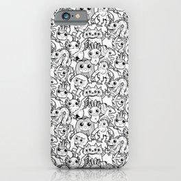 Monster Friends Black & White Pattern iPhone Case