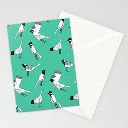 Bird Print - Turquoise Stationery Cards