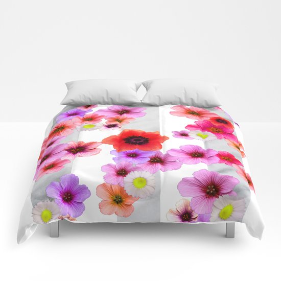 Flowers and Stripes 4 Comforters