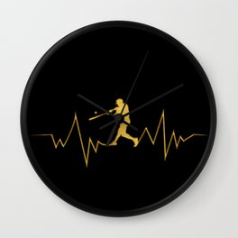Baseball Heartbeat design Cool Gift for Sport Lovers Wall Clock