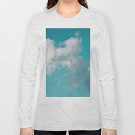 Floating cotton candy with blue green Long Sleeve T-shirt