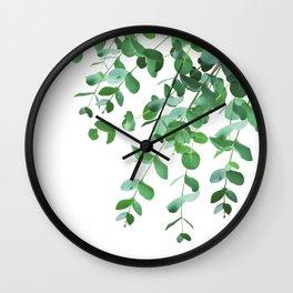 Eucalyptus Green Delight #1 #foliage #decor #art #society6 Wall Clock
