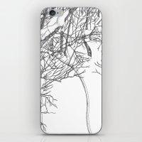 snowboarding iPhone & iPod Skins featuring snowboarding on powder by Miyuki Sakurai