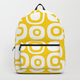 Mid Century Modern Garden Path Pattern 368 Yellow Backpack
