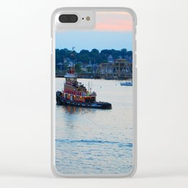 Red Tug Boat Clear iPhone Case