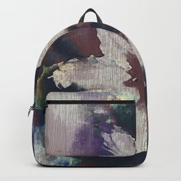 LILY FLOWER ABSTRACT/FOGGY NIGHT Backpack