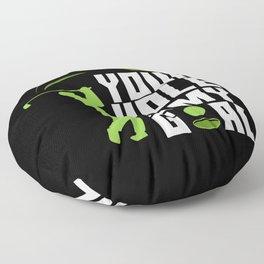 Your Hole Is My Goal - Fairway Green Golf Golfer Floor Pillow