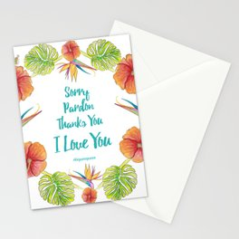 Sorry, Pardon, Thanks You, I love you, Ho'oponopono Stationery Cards
