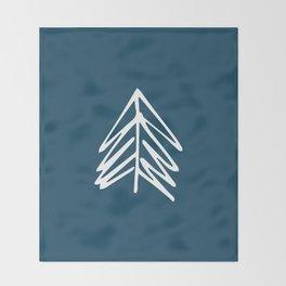 Pacific Northwest Evergreen   In Indigo Throw Blanket